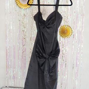 Stop Staring Little Black Dress, Satin, L